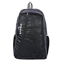 Get Sassie Black & Gray Smart School Bag (31 Litres) (SSN-1032) at Rs 359 | Amazon Offer