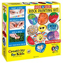 Get Save on Creativity for Kids Hide and Seek Rock Painting Kit at Rs 1369 | Amazon Offer