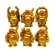 Get Set of 6 Laughing Budha in 6 Different Positions at Rs 165 | Shopclues Offer