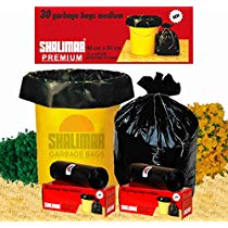 Get Shalimar Garbage Bags (Medium) 48 cm x 56 cm (180 Bags) at Rs 410 | Amazon Offer