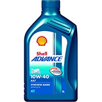 Get Shell Advance AX7 550031394 10W-40 API SM Synthetic Technology Motorbike Engine Oil at Rs 359 |