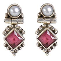 Get Silverwala 925-92.5 Sterling Silver Pearl, Ruby, Cubic Zirco at Rs 553 | Amazon Offer