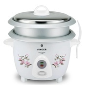 Get Singer Rice Cuisine 1.8 OL Electric Rice Cooker with Steaming Feature (1.8 L, White) at Rs 1599
