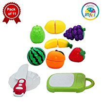 Get Smiles Creation Realistic Sliceable Fruits Cutting Play Toy Set with Velcro for Kids at Rs 419 |