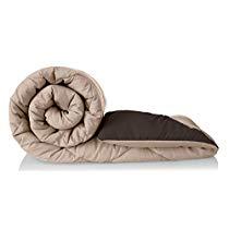 Get Solimo Microfibre Reversible Comforter, Single (Subtle Beige & Walnut Brown, 200 GSM) at Rs 1139