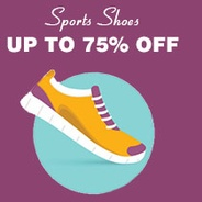 Get Sports Shoes Upto 75% OFF | homeshop18 Offer