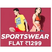 Get Sports Wear Flat Rs.1299 at Rs 1299 | Jabong Offer