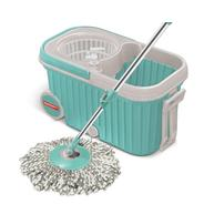 Get Spotzero by Milton Elite Spin Mop with Bigger Wheels & Auto Fold Handle for 360 Degree Cleaning