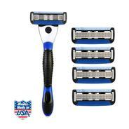 Get Spruce Shave Club 5X Shave Set (1 Razor, 4 Cartridges) at Rs 484 | Amazon Offer