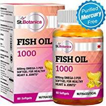 Get StBotanica Fish Oil 1000 mg Double Strength with 550 mg Ome at Rs 599 | Amazon Offer