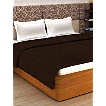 Get StoryHome Super Soft Plain Polar Fleece Double Blanket – Brown at Rs 189 | Amazon Offer