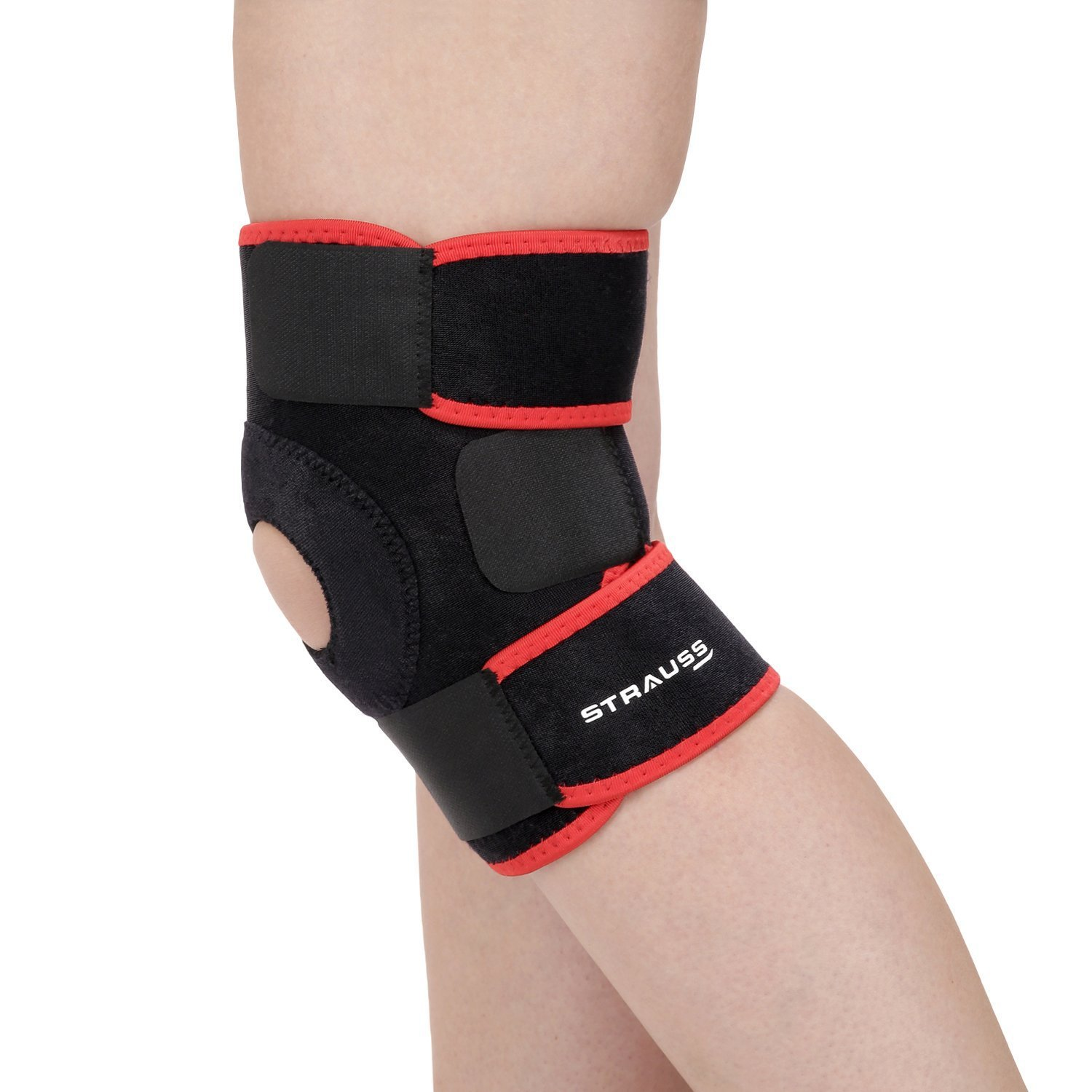 Get Strauss Adjustable Knee Support Patella, Free Size (Black) at Rs 363 | Amazon Offer
