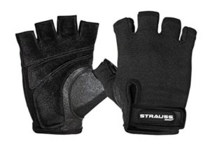 Get Strauss Weightlifting Gym Gloves with StretchBack Mesh and Leather Palm     at Rs 399   Amazon O