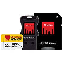 Get Strontium NITRO 466X 32GB MicroSDHC UHS-1 Memory Card with Adapter and Card Reader at Rs 699   A