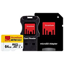 Get Strontium Nitro 566X 64GB MicroSDXC UHS-1 Memory Card with Adapter and Card Reader at Rs 1399 |