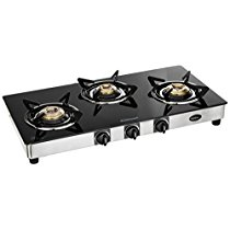 Get Sunflame GT Regal Stainless Steel 3 Burner Gas Stove, Black at Rs 3799   Amazon Offer