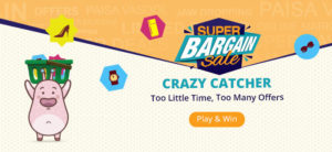 Get  Super Bargin Sale – Crazy Catcher Play & Win upto  250 off on  400 Coupon at Rs 150 | Shopclu