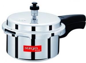 Get Surya Accent Aluminium Pressure Cooker 3 Ltr  , 5Ltr  599   at Rs 399 | Flipkart Offer