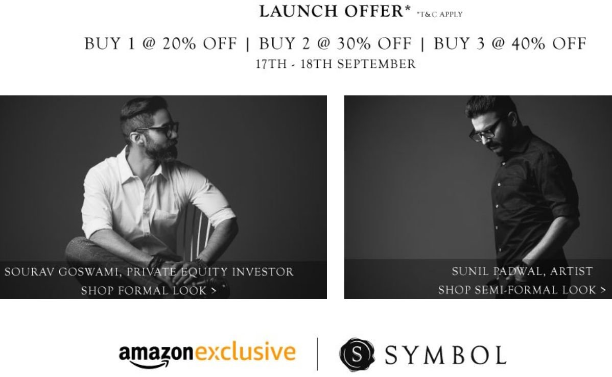 Get Symbol Men's Clothing Min 50% – 70% off   at Rs 798 | Amazon Offer