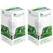 Get Syska Led Lights 7 W B22 LED Bulb (White, Pack of 2) at Rs 179 | Flipkart Offer