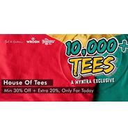 Get T-Shirts Today Minimum 30% OFF + Extra 20% | Myntra Offer
