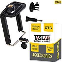 Get Taslar Tripod Monopod Mount Adapter For Mobile Phone, Smartphones With Universal Mobile Holder &
