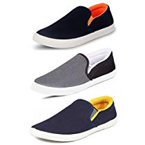 Get Tempo Men's Combo Pack Of 3 Synthetic Loafers Shoes at Rs 517 | Amazon Offer