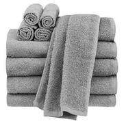 Get Tex Home 100% Grey Cotton Hand Towel Set of 2 at Rs 199 | Amazon Offer