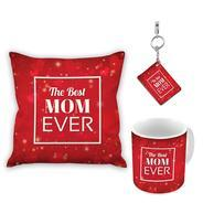 Get The best mom ever Cushion Cover, Mug and Keyring gift for mothers day at Rs 404 | Amazon Offer