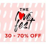 Get The Love Fest - Fashion Store Flat 30% - 70% OFF | Myntra Offer
