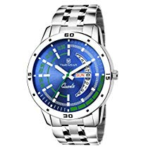 Get TIMEWEAR Day & Date Functioning Blue Dial Chain Watch at Rs 299 | Amazon Offer