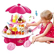 Get Toyshine Ice Cream Kitchen Play Cart Kitchen Set Toy With at Rs 719 | Amazon Offer