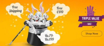 Get  Triple Value Sale Products   to  199 at Rs 79 | Shopclues Offer