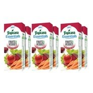 Get Tropicana Essentials Fruits & Veggies Juice 200ml each (Pack of 6) at Rs 144   Amazon Offer