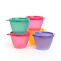Get Tupperware Bowled Over Plastic Container Set 450ml Set of 2 Multicolou at Rs 204 | Amazon Offer