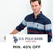 Get U.S. Polo Assn. Clothing Minimum 40% OFF | Myntra Offer