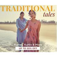 Get Upto 50% OFF On Kurta, Kurtis & More | Myntra Offer