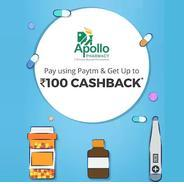 Get Upto Rs.100 Cashback Pay With Paytm at Apollo Pharmacy | paytmmall Offer