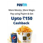 Get Upto Rs.150 Cashback when you pay using Paytm on PVR Website | pvrcinemas Offer