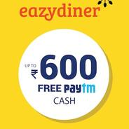 Get Upto Rs.600 Paytm Cashback on Restaurant Bookings with Eazydiner app | paytmmall Offer