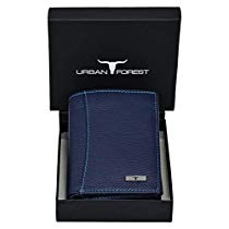 Get Urban Forest Orlando Blue Leather Wallet for Men at Rs 499 | Amazon Offer
