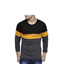 Get Urbano Fashion Men's Striped Slim Fit T-Shirt (Cns-RND-blaye at Rs 332 | Amazon Offer