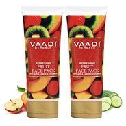Get Vaadi Herbals Refreshing Fruit Pack with Apple Lemon and Cucumber, 120gmx2 at Rs 133 | Amazon Of
