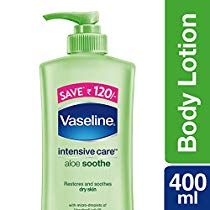 Get Vaseline Intensive Care Aloe Soothe Body Lotion, 400 ml at Rs 176 | Amazon Offer