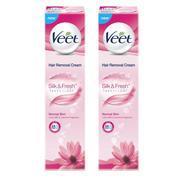Get Veet Hair Removal Cream - Normal Skin (Pack of 2) Cream (100 g) at Rs 220 | Flipkart Offer