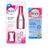 Get Veet SENSITIVE TOUCH+FULL BODY WAXING KIT Cordless Trimmer (White) at Rs 949 | Flipkart Offer