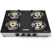 Get (via PhonePe) Eveready Glass, Stainless Steel Manual Gas Stove (4 Burners) at Rs 3240 | Flipkart
