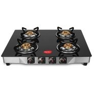 Get (Via PhonePe) Pigeon Ultra Glass, Stainless Steel Manual Gas Stove (4 Burners) at Rs 2699 | Flip