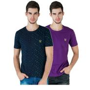 Get Vimal Multicolor Cotton Tshirts For Men(Pack Of 2) at Rs 249 | paytmmall Offer