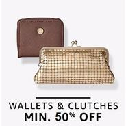 Get Wallets & Clutches Minimm 50% OFF   Amazon Offer